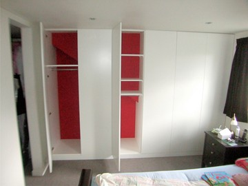 Flush Panels, Full Height with Multiple Storage